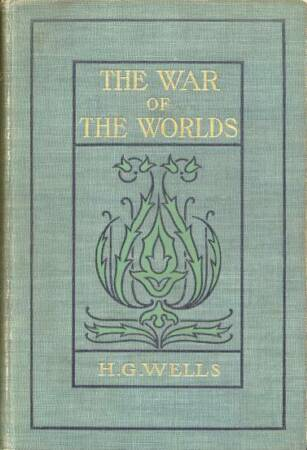 THE WAR OF THE WORLDS Book Cover of the 1898 editon by H.G. Wells